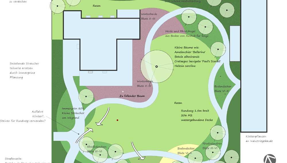 plattegrond van project parktuin