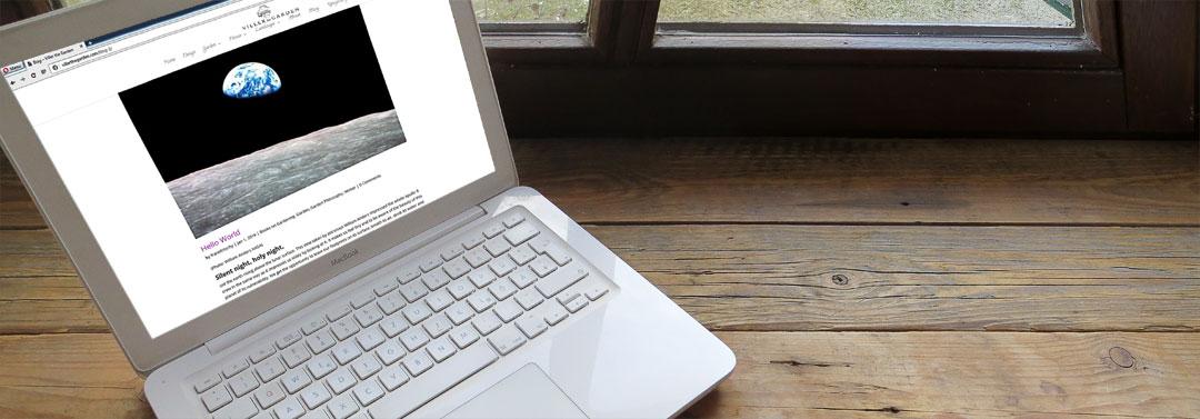 Afbeelding van laptop met Viller the Garden blog